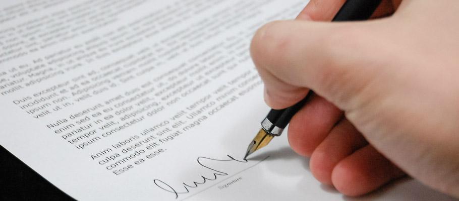 podpisanie dokumentu